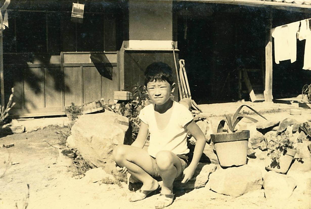 夏休み:小豆島にて(この頃はやせてます)